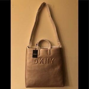 EUC DKNY Large tote. Gorgeous light pearl pink.